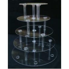 8-6E1 : ύψος 60 εκ. 5 δίσκοι Φ60-Φ30 Κολώνα από Plexiglass-Πλεξιγκλας