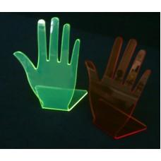 16-1Α : Σταντ Δαχτυλιδιών Χέρι από Plexiglass-Πλεξιγκλας