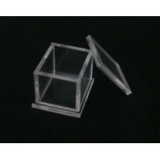 Κουτί για μπομπονιέρα 4.5 Χ 3.9 Χ 3.9 με καπάκι από Plexiglass-Πλεξιγκλας