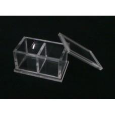 Κουτί για μπομπονιέρα 6,6 Χ 3.9 Χ 3.9 με καπάκι από Plexiglass-Πλεξιγκλας