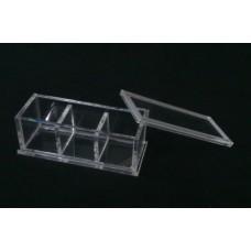 Κουτί για μπομπονιέρα 9,5 Χ 3.9 Χ 3.9 με καπάκι από Plexiglass-Πλεξιγκλας