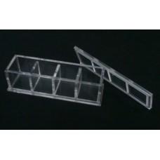 Κουτί για μπομπονιέρα 12,4 Χ 3.9 Χ 3.9 με καπάκι από Plexiglass-Πλεξιγκλας