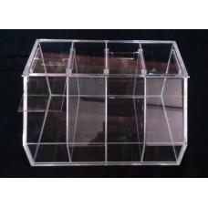 Κουτι αποθηκευσης - προβολης προϊοντων 40x30x22 με συρόμενα καπάκια απο Plexiglass - Πλεξιγκλας