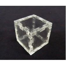 Κουτί για μπομπονιέρα 3X3X3 με καπάκι από Plexiglass-Πλεξιγκλας
