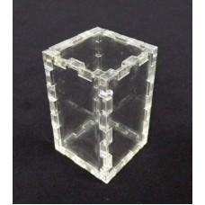 Κουτί για μπομπονιέρα 3X3X5 με καπάκι από Plexiglass-Πλεξιγκλας