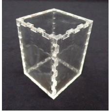 Κουτί για μπομπονιέρα 5X5X7 με καπάκι από Plexiglass-Πλεξιγκλας