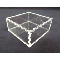 Κουτί για μπομπονιέρα 7Χ7Χ4 με καπάκι από Plexiglass-Πλεξιγκλας