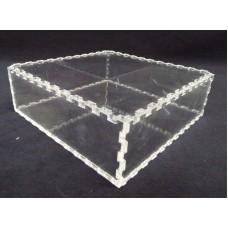 Κουτί για μπομπονιέρα 14Χ14Χ4 με καπάκι από Plexiglass-Πλεξιγκλας