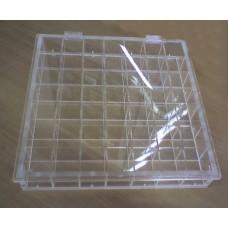 Κασετινα - Κουτι 35 θεσεων με καπακι 40x40x7 απο Plexiglass - Πλεξιγκλας