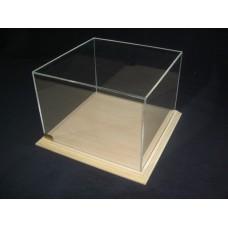 Προθήκη 20 Χ 20 Χ 20 από άβαφο Ξύλο και Plexiglass-Πλεξιγκλας