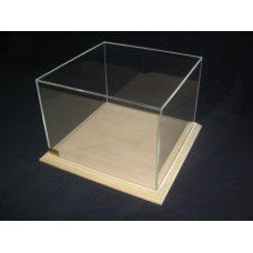 Προθήκη σε Διαστάσεις κατά παραγγελία από άβαφο Ξύλο και Plexiglass-Πλεξιγκλας