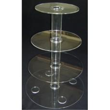 8-4Z2 : ύψος 60 εκ. 3 δίσκοι Φ20-Φ45 Κολώνα από Plexiglass-Πλεξιγκλας