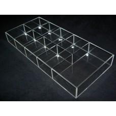 Κουτι αποθηκευσης - προβολης προϊοντων 72x24x12 απο Plexiglass - Πλεξιγκλας
