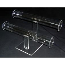 5-2Β : 25 x 12 x 15 cm Διπλό Σταντ Βραχιολιών Plexiglass-Πλεξιγκλας