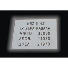 Εγχάρακτη επιγραφή σε αλουμίνιο