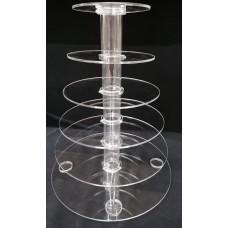 8-4Ζ5 : ύψος 60 εκ. 6 δίσκοι Φ20-Φ45 Κολώνα από Plexiglass-Πλεξιγκλας
